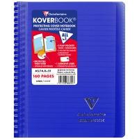 Kołonotatnik CLAIREFONTAINE Koverbook, w linię, 80 kart., 14,8x21cm, mix kolorów, Kołonotatniki, Zeszyty i bloki