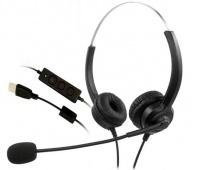 Zestaw słuchawkowy MEDIARANGE, z mikrofonem i panelem sterowania, czarny, Słuchawki i zestawy słuchawkowe, Akcesoria komputerowe, Słuchawki