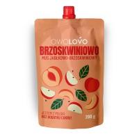 Mus jabłkowo-brzoskwiniowy OWOLOVO, 200g, Przekąski, Artykuły spożywcze