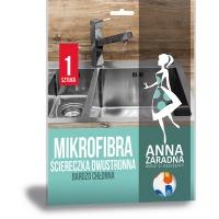 Mikrofibra ściereczka dwustronna ANNA ZARADNA, 1 szt., Akcesoria do sprzątania, Artykuły higieniczne i dozowniki