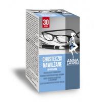Chusteczki nawilżane ANNA ZARADNA, do okularów, 30 saszetek, Środki czyszczące, Artykuły higieniczne i dozowniki