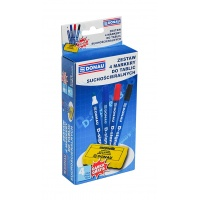 4-Whiteboard Marker Set D-Signer B round assorted colours FREE Sponge