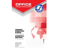 Index Book OFFICE PRODUCTS, A4, square ruled, A-Z index, durable cover, 96sheets, 70gsm