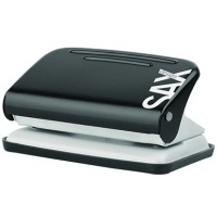 Dziurkacz SAXDesign 218 paperbox, dziurkuje do 12 kartek, czarny, Dziurkacze, Drobne akcesoria biurowe
