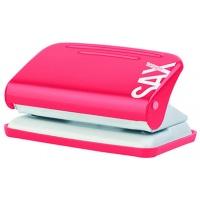 Dziurkacz SAXDesign 218 paperbox, dziurkuje do 12 kartek, czerwony, Dziurkacze, Drobne akcesoria biurowe
