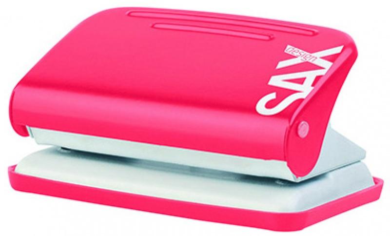 Dziurkacz Design 218 paperbox dziurkuje do 12 kartek czerwony, Dziurkacze, Drobne akcesoria biurowe