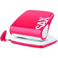 Dziurkacz SAXDesign 418 paperbox, dziurkuje do 25 kartek, czerwony, Dziurkacze, Drobne akcesoria biurowe