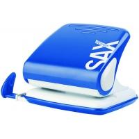 Dziurkacz SAXDesign 418 paperbox, dziurkuje do 25 kartek, niebieski, Dziurkacze, Drobne akcesoria biurowe