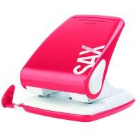 Dziurkacz SAXDesign 518 paperbox, dziurkuje do 40 kartek, czerwony, Dziurkacze, Drobne akcesoria biurowe