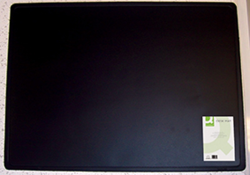 Podkładka na biurko Q-CONNECT, 63x50cm, czarna, Podkładki na biurko, Wyposażenie biura