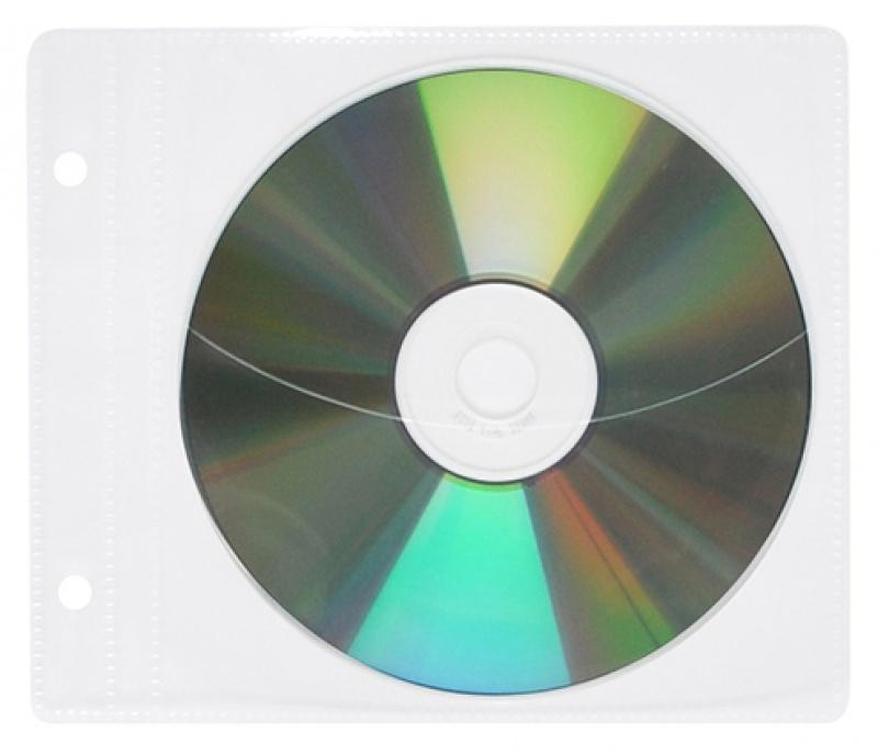 Koperty na płyty CD/DVD OFFICE PRODUCTS, do wpinania, PP, 10szt., transparentny, Pudełka i opakowania na CD/DVD, Akcesoria komputerowe