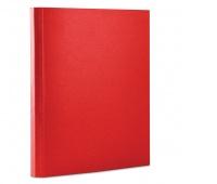 Teczka z rzepem OFFICE PRODUCTS, PP, A4/4cm, 3-skrz., czerwona, Teczki przestrzenne, Archiwizacja dokumentów