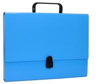 Teczka-pudełko OFFICE PRODUCTS, PP, A4/5cm, z rączką i zamkiem, niebieska, Teczki przestrzenne, Archiwizacja dokumentów