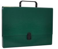 Teczka-pudełko OFFICE PRODUCTS, PP, A4/5cm, z rączką i zamkiem, zielona, Teczki przestrzenne, Archiwizacja dokumentów