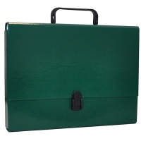 File Box OFFICE PRODUCTS, PP, A4/5cm, with handle and clip lock, green