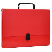 File Box OFFICE PRODUCTS, PP, A4/5cm, with handle and clip lock, red