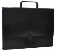 Teczka-pudełko OFFICE PRODUCTS, PP, A4/5cm, z rączką i zamkiem, czarna, Teczki przestrzenne, Archiwizacja dokumentów