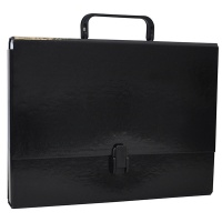 File Box OFFICE PRODUCTS, PP, A4/5cm, with handle and clip lock, black