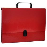 Teczka-pudełko OFFICE PRODUCTS, PP, A4/5cm, z rączką i zamkiem, bordowa, Teczki przestrzenne, Archiwizacja dokumentów