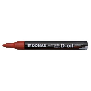 Marker olejowy DONAU D-Oil, okrągły, 2,8mm, czerwony, Markery, Artykuły do pisania i korygowania