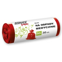 Worki na odpady medyczne STELLA, LDPE, 60 l, 20 szt., Worki, Artykuły higieniczne i dozowniki