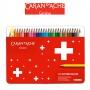 Kredki CARAN D'ACHE Swisscolor, metalowe pudełko, 30 szt.