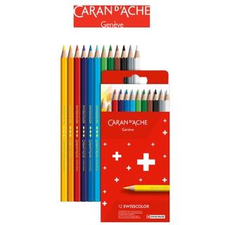 Kredki CARAN D'ACHE Swisscolor, kartonowe pudełko, 12 szt., Plastyka, Artykuły szkolne