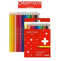 Kredki CARAN D'ACHE Swisscolor, kartonowe pudełko, 18 szt., Plastyka, Artykuły szkolne