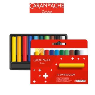 Kredki woskowe CARAN D'ACHE Swisscolor, kartonowe pudełko, 10 szt., Plastyka, Artykuły szkolne