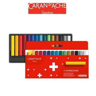 Kredki woskowe CARAN D'ACHE Swisscolor, kartonowe pudełko, 15 szt., Plastyka, Artykuły szkolne