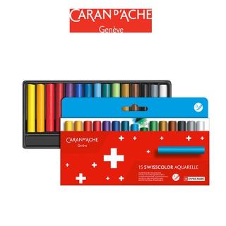Kredki akwarelowe woskowe CARAN D'ACHE Swisscolor, kartonowe pudełko, 15 szt., Plastyka, Artykuły szkolne