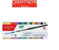 Farby CARAN D'ACHE Gouache Fancolor Cakes, 15 szt., Plastyka, Artykuły szkolne