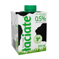 Mleko ŁACIATE, 0,5%, 0,5 l, Mleka i śmietanki, Artykuły spożywcze