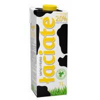Mleko ŁACIATE, 2%, 1 l, Mleka i śmietanki, Artykuły spożywcze