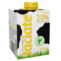 Mleko ŁACIATE, 2%, 0,5 l, Mleka i śmietanki, Artykuły spożywcze