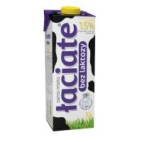 Mleko ŁACIATE, bez laktozy 1,5%, 1 l, Mleka i śmietanki, Artykuły spożywcze