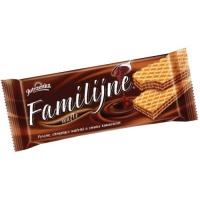 Wafle Familijne JUTRZENKA, 180 g, kakaowe, Wafle, Artykuły spożywcze