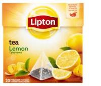 Herbata LIPTON, piramidki, 20 torebek, cytrynowa, Herbaty, Artykuły spożywcze
