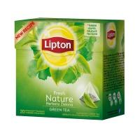 Herbata LIPTON Green Nature, piramidki, 20 torebek, zielona, Herbaty, Artykuły spożywcze