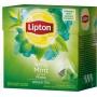 Herbata LIPTON, piramidki, 20 torebek, zielona z miętą