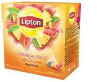 Herbata LIPTON, piramidki, 20 torebek, owoce tropikalne, Herbaty, Artykuły spożywcze