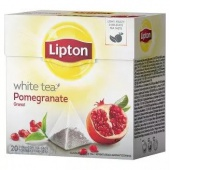 Herbata LIPTON, piramidki, 20 torebek, biała herbata i granat, Herbaty, Artykuły spożywcze