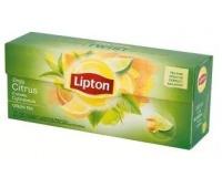 Herbata LIPTON Green Tea, 25 torebek, cytrynowa, Herbaty, Artykuły spożywcze