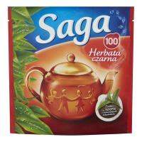Herbata SAGA, ekspresowa, 100 torebek, Herbaty, Artykuły spożywcze