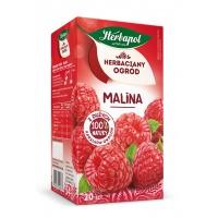Herbata HERBAPOL Herbaciany Ogród, 20 torebek, malinowa, Herbaty, Artykuły spożywcze