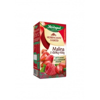 Herbata HERBAPOL Herbaciany Ogród, 20 torebek, malina z dziką różą, Herbaty, Artykuły spożywcze