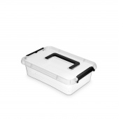 Pojemnik do przechowywania ORPLAST Simple box, 3,1l, z rączką, transparentny, Pudła, Wyposażenie biura