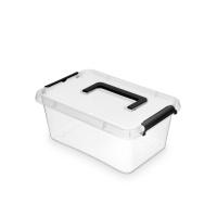 Pojemnik do przechowywania ORPLAST Simple box, 4,5l, z rączką, transparentny, Pudła, Wyposażenie biura