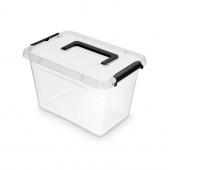 Pojemnik do przechowywania ORPLAST Simple box, 6,5l, z rączką, transparentny, Pudła, Wyposażenie biura
