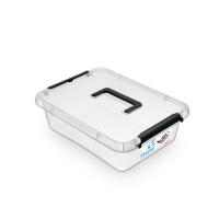 Pojemnik do przechowywania ORPLAST Simple box, 8,5l, z rączką, transparentny, Pudła, Wyposażenie biura